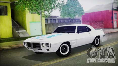 Pontiac Firebird Trans Am Coupe (2337) 1969 для GTA San Andreas вид снизу