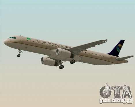 Airbus A321-200 Saudi Arabian Airlines для GTA San Andreas двигатель