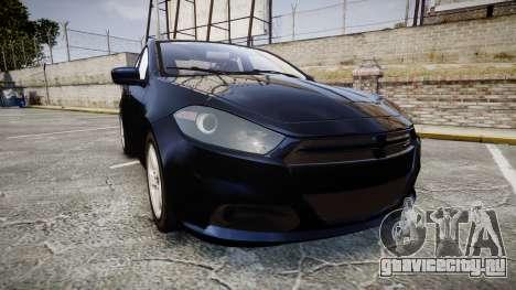 Dodge Dart 2013 Undercover [ELS] для GTA 4