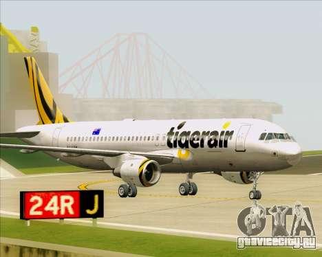Airbus A320-200 Tigerair Australia для GTA San Andreas вид слева