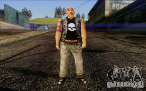 Biker from GTA Vice City Skin 1 для GTA San Andreas