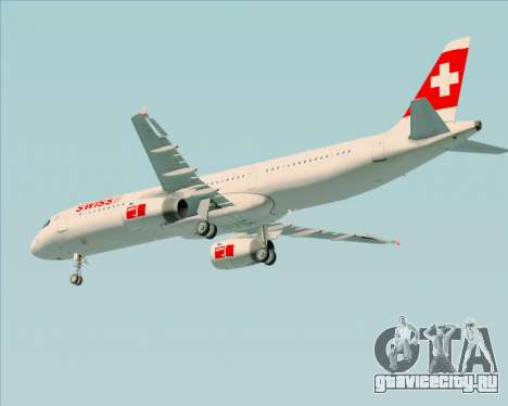 Airbus A321-200 Swiss International Air Lines для GTA San Andreas колёса