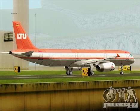 Airbus A321-200 LTU International для GTA San Andreas вид сзади слева