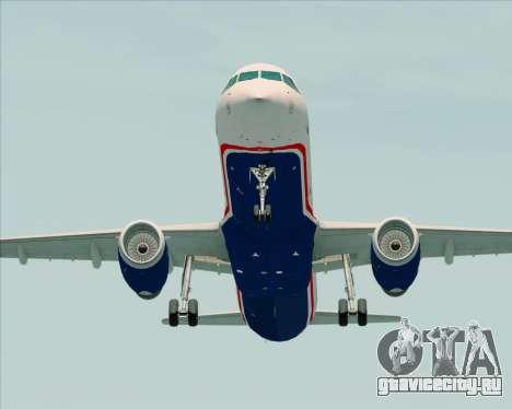 Airbus A321-200 US Airways для GTA San Andreas вид справа