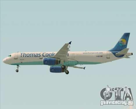 Airbus A321-200 Thomas Cook Airlines для GTA San Andreas вид сверху