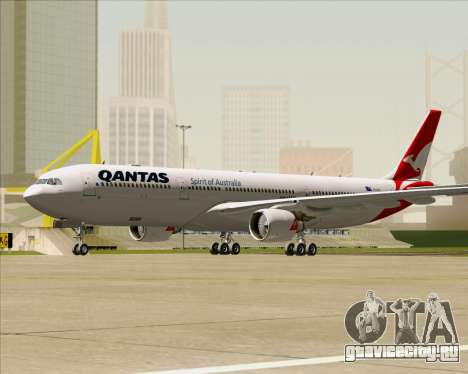 Airbus A330-300 Qantas (New Colors) для GTA San Andreas вид слева
