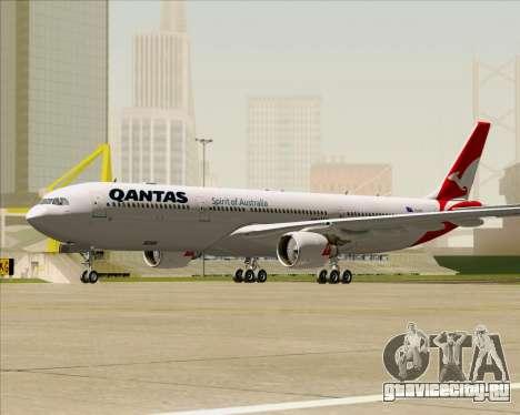 Airbus A330-300 Qantas (New Colors) для GTA San Andreas вид слева