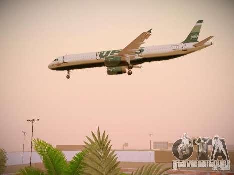 Airbus A321-232 jetBlue NYJets для GTA San Andreas вид сбоку