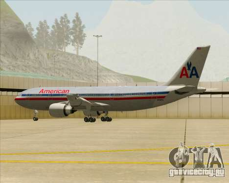 Airbus A300-600 American Airlines для GTA San Andreas колёса
