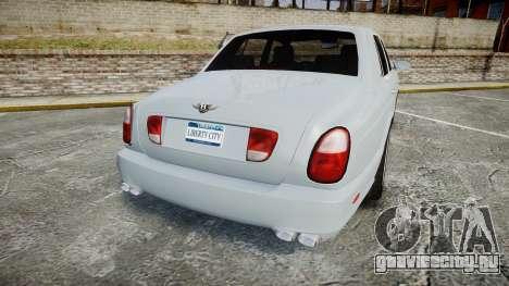 Bentley Arnage T 2005 Rims1 Chrome для GTA 4 вид сзади слева