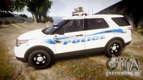 Ford Explorer 2013 PS Police [ELS] для GTA 4 вид слева