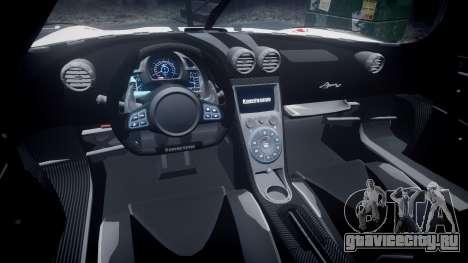 Koenigsegg Agera R 2013 [EPM] RX-93 для GTA 4 вид сзади