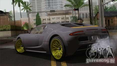 GTA 5 Adder (IVF) для GTA San Andreas вид слева