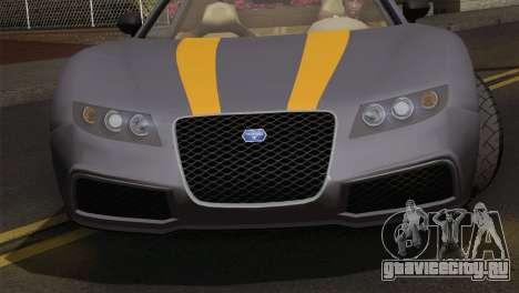 GTA 5 Adder (IVF) для GTA San Andreas вид сзади слева