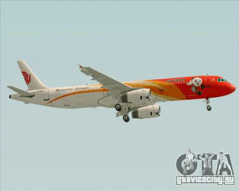 Airbus A321-200 Air China (Beautiful Sichuan) для GTA San Andreas вид сбоку