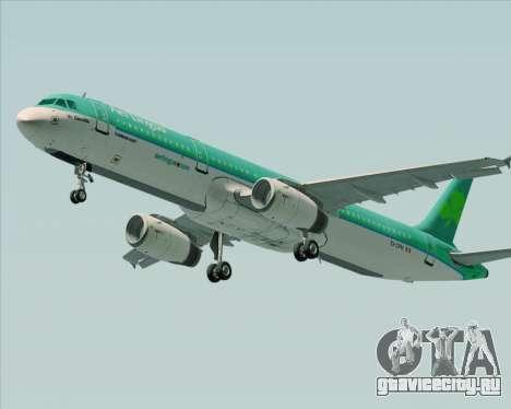 Airbus A321-200 Aer Lingus для GTA San Andreas вид сзади слева