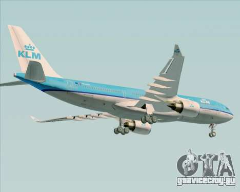 Airbus A330-200 KLM - Royal Dutch Airlines для GTA San Andreas двигатель