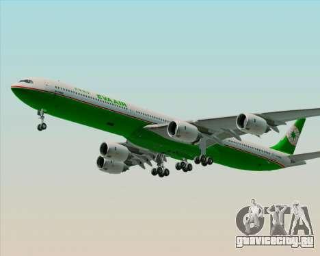 Airbus A340-600 EVA Air для GTA San Andreas вид снизу