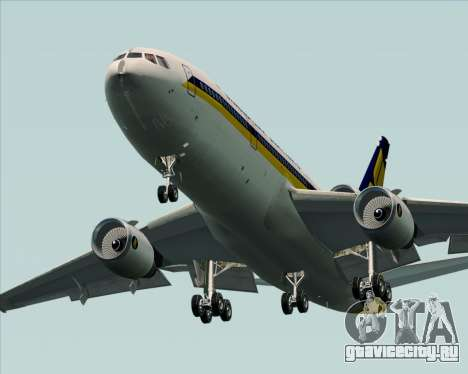 McDonnell Douglas DC-10-30 Singapore Airlines для GTA San Andreas вид снизу