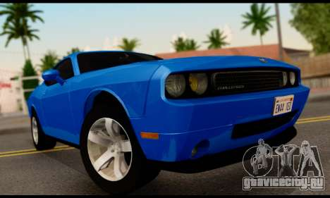 Dodge Challenger SXT Plus 2013 для GTA San Andreas вид сзади слева
