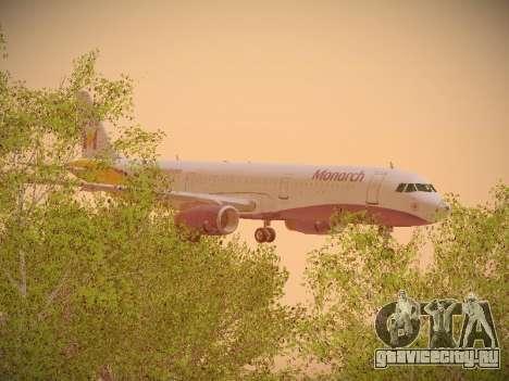 Airbus A321-232 Monarch Airlines для GTA San Andreas вид сбоку