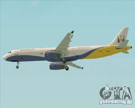 Airbus A321-200 Monarch Airlines для GTA San Andreas колёса