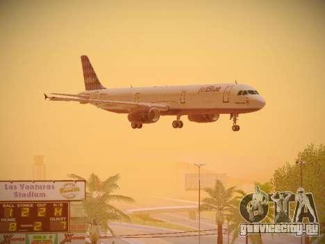 Airbus A321-232 jetBlue Airways для GTA San Andreas вид сбоку