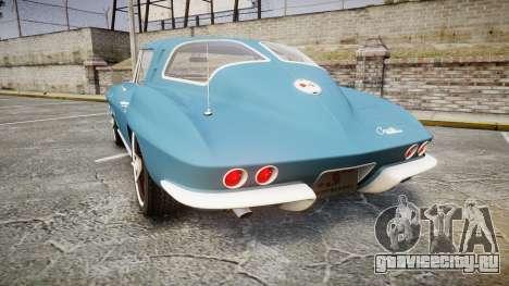Chevrolet Corvette Stingray 1963 v2.0 для GTA 4 вид сзади слева