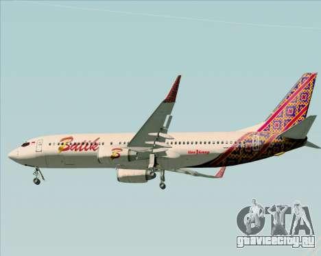 Boeing 737-800 Batik Air для GTA San Andreas вид снизу