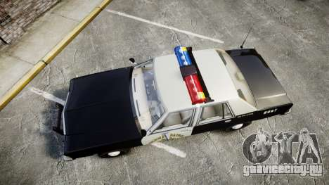 Ford LTD Crown Victoria 1987 Police CHP1 [ELS] для GTA 4 вид справа