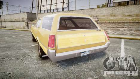 Oldsmobile Vista Cruiser 1972 Rims1 Tree5 для GTA 4 вид сзади слева
