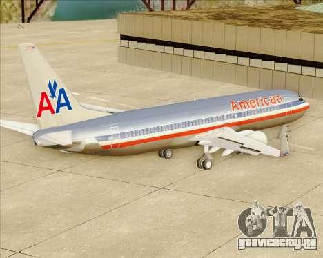 Boeing 737-800 American Airlines для GTA San Andreas