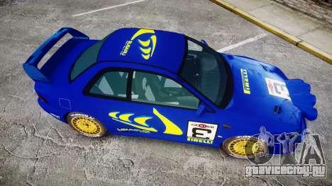 Subaru Impreza WRC 1998 Rally v2.0 Yellow для GTA 4 вид справа