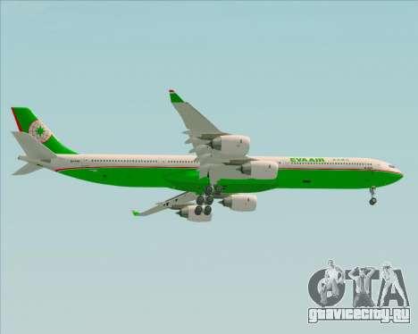 Airbus A340-600 EVA Air для GTA San Andreas вид справа