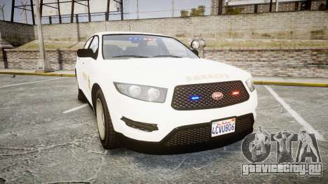 GTA V Vapid Interceptor LSS White [ELS] Slicktop для GTA 4