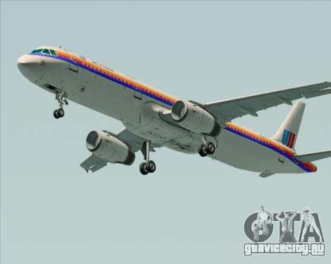 Airbus A321-200 United Airlines для GTA San Andreas вид справа