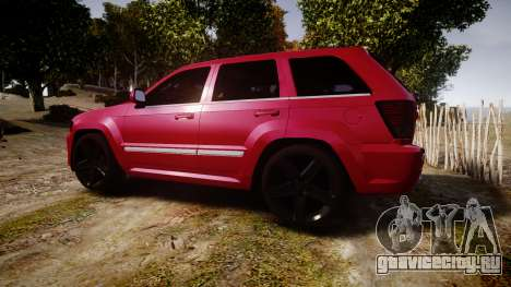 Jeep Grand Cherokee SRT8 license plates для GTA 4 вид слева