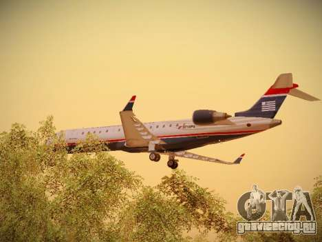 Bombardier CRJ-700 US Airways Express для GTA San Andreas вид снизу
