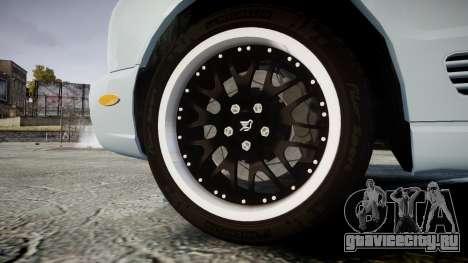 Bentley Arnage T 2005 Rims1 Chrome для GTA 4 вид сзади