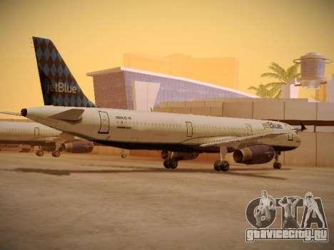 Airbus A321-232 jetBlue Airways для GTA San Andreas вид сзади