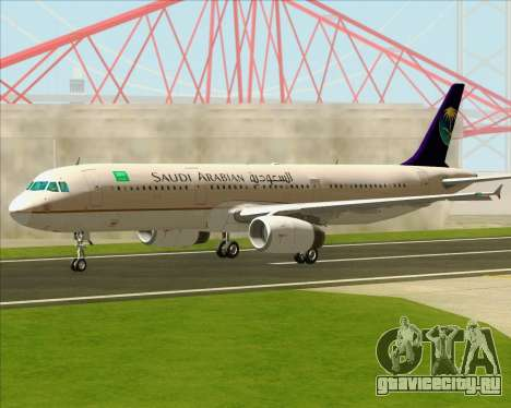 Airbus A321-200 Saudi Arabian Airlines для GTA San Andreas вид изнутри