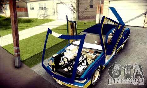 Cadillac Fleetwood 1993 Lowrider для GTA San Andreas вид изнутри