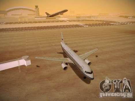 Airbus A320-214 Aeroflot Retrojet для GTA San Andreas вид сзади