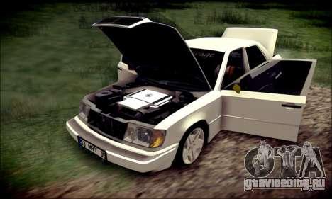 Mercedes-Benz E320 Delta Garage для GTA San Andreas вид изнутри