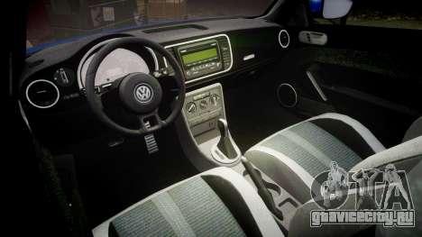 Volkswagen Beetle A5 Fusca для GTA 4 вид изнутри