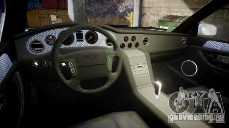 Bentley Arnage T 2005 Rims1 Black для GTA 4 вид изнутри