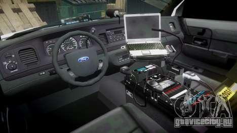 Ford Crown Victoria LC Sheriff [ELS] для GTA 4 вид сзади