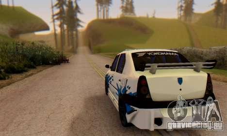 Dacia Logan Tuning для GTA San Andreas вид сзади слева