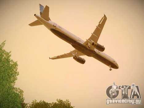 Airbus A321-232 jetBlue Do-be-do-be-blue для GTA San Andreas вид изнутри