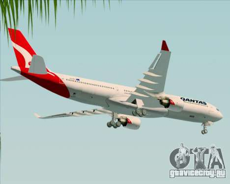Airbus A330-300 Qantas (New Colors) для GTA San Andreas вид сверху
